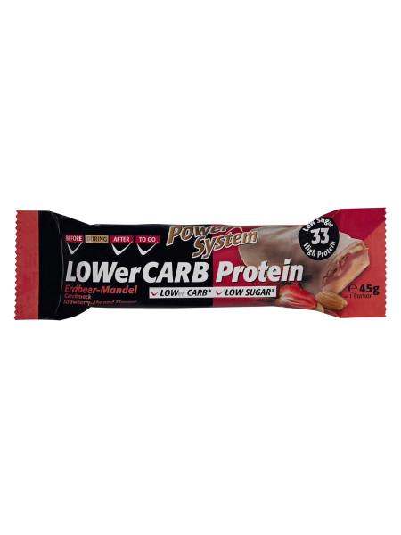 PowerSystem LOWer Carb Bar Strawberry-Almond Proteinriegel