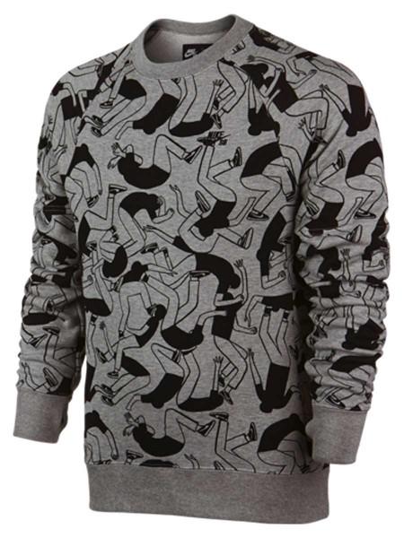 Nike SB Everett Artist Crew Sweater dark grey heather