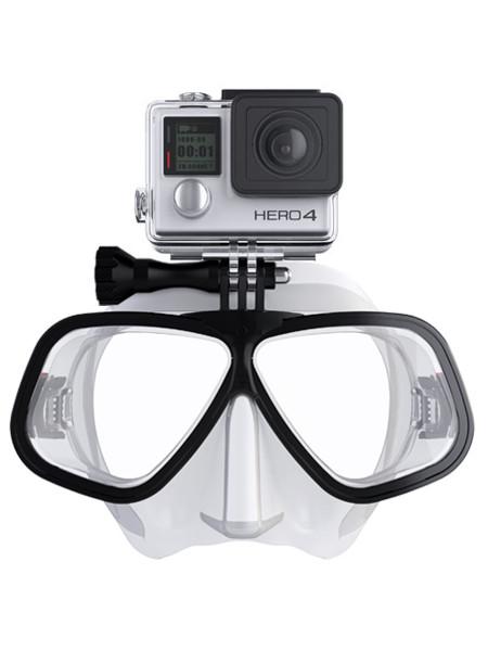 Octomask Freediver Taucherbrille mit GoPro/Actionpro Halterung clear