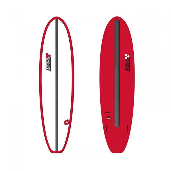 "CHANNEL ISLANDS 8'0"" X-lite Chancho 8.0 Red Surfboard"