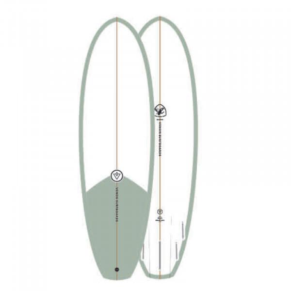 Surfboard VENON Quokka 6.4 Grill Smoke