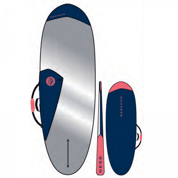 "Madness Boardbag PE 6.0"" Hybrid Blau/Rot"
