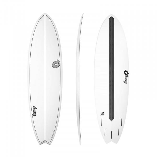 """TORQ 6'10"""" Epoxy TET CS Fish Carbon Surfboard"""