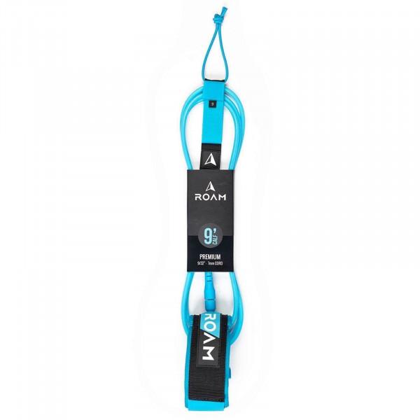 "ROAM 9'0"" Knie Surfboard Leash Premium 7mm Blau"