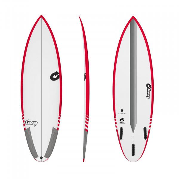 Surfboard TORQ Epoxy TEC Thruster 6.6 Rail Rot