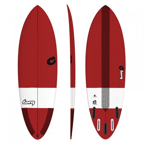 Surfboard TORQ Epoxy TEC Hybrid 6.4 Red
