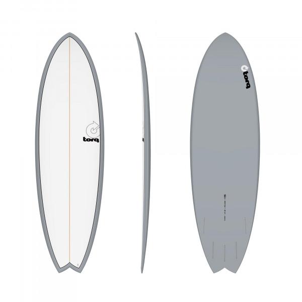 Surfboard TORQ Epoxy TET 5.11 Fish Grey Pinline