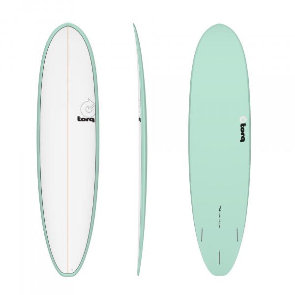 Surfboard TORQ Epoxy TET 7.4 VP Funboard Seagreen