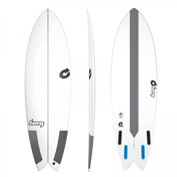 "TORQ 5'10"" Epoxy TEC Fish Surfboard"