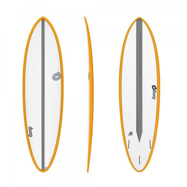 Surfboard TORQ Epoxy TET CS 6.8 Fun Carbon Orange