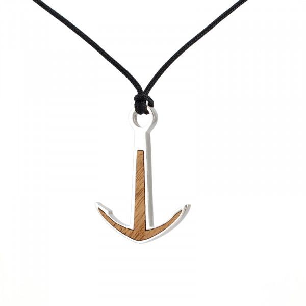 Silver+Surf Silber Schmuck Anker XL Wood Halsband