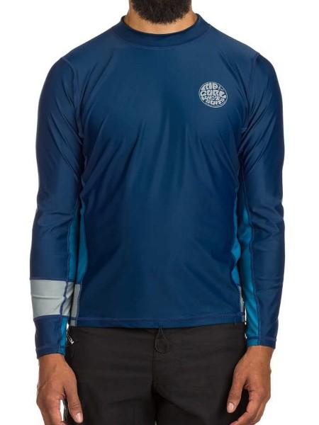 Rip Curl Aggrolite Relaxed LS blau Rashguard Shirt