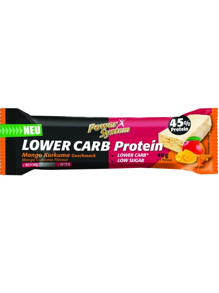 PowerSystem LOWer Carb Bar Mango Kurcuma Proteinriegel
