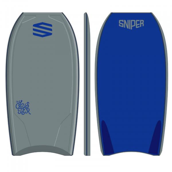 SNIPER Bodyboard Cluster PE 45 Grau Blau