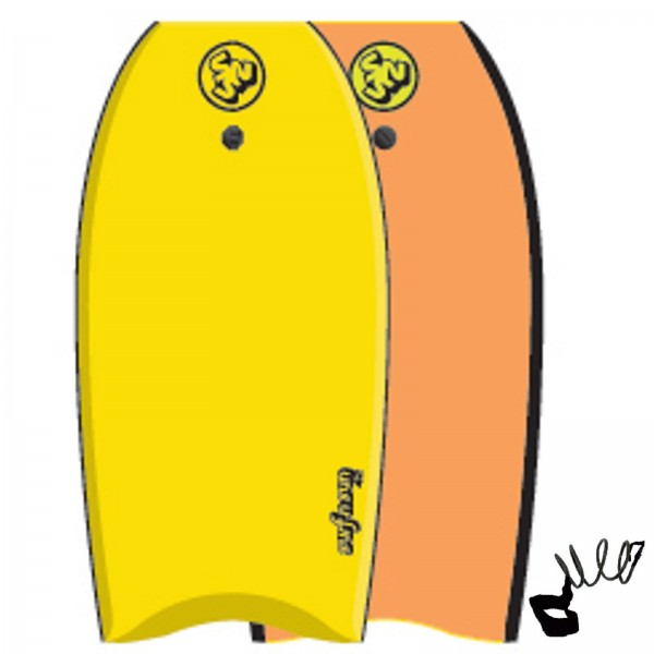"""SurfnSun 42"""" Similar Bodyboard Gelb-Orange"""