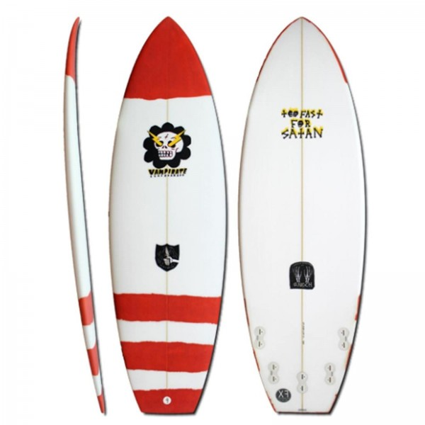 VAMPIRATE too fast for satan 6.3 XF Surfboard