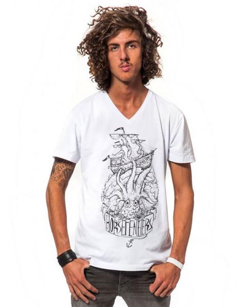 Horsefeathers Corsair T-Shirt white