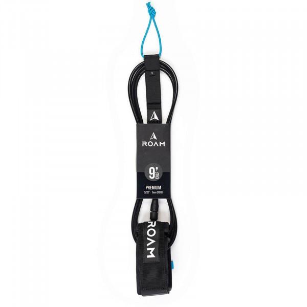 """ROAM 9'0"""" Knie Surfboard Leash Premium 7mm Schwarz"""