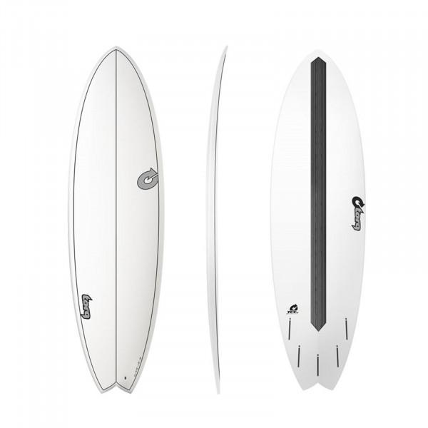 """TORQ 6'3"""" Epoxy TET CS Fish Carbon Surfboard"""