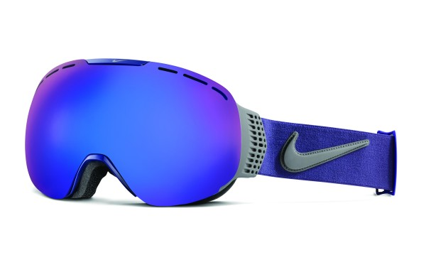 Nike SB Command Snow Goggle Dark Raisin/Magnet Grey - dark smoke blue + pink ionized