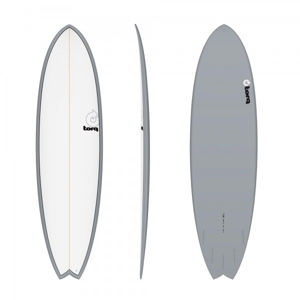 Surfboard TORQ Epoxy TET 7.2 Fish Grey Pinline