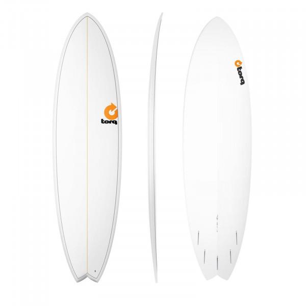 Surfboard TORQ Epoxy TET 7.2 Fish Pinlines