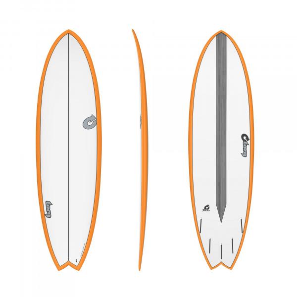 Surfboard TORQ Epoxy TET CS 6.3 Fish Carbon Orange