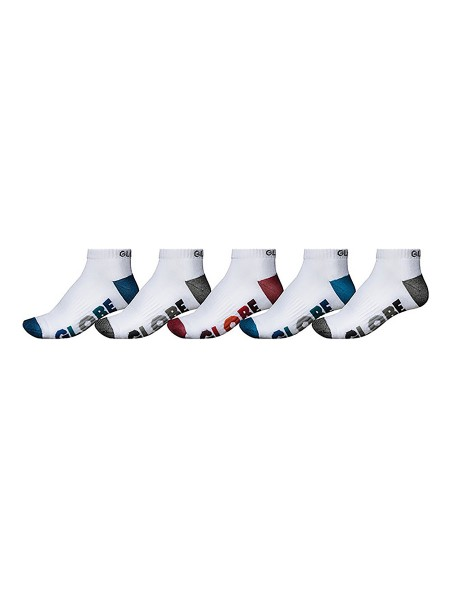 Globe Multi Stripe Ankle white 5-Pack Socken