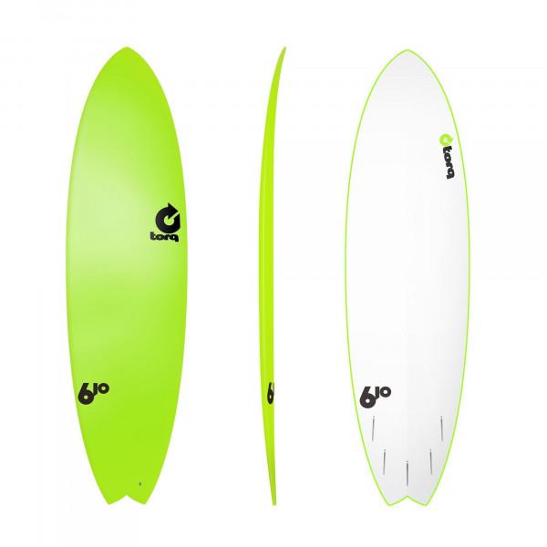 Surfboard TORQ Softboard 6.10 Fish Grün