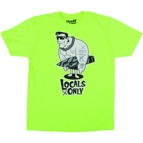 Neff Locals Only Premium T-Shirt neon yellow