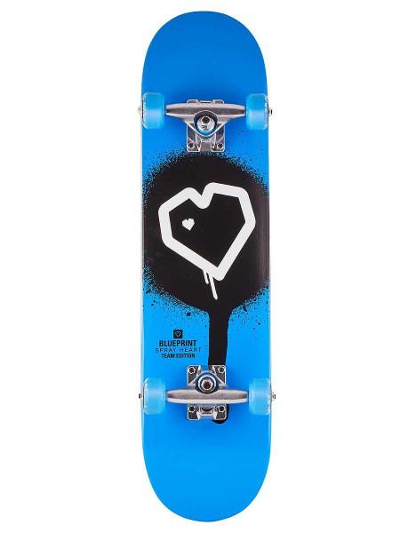 Blueprint Spray Heart Skateboard