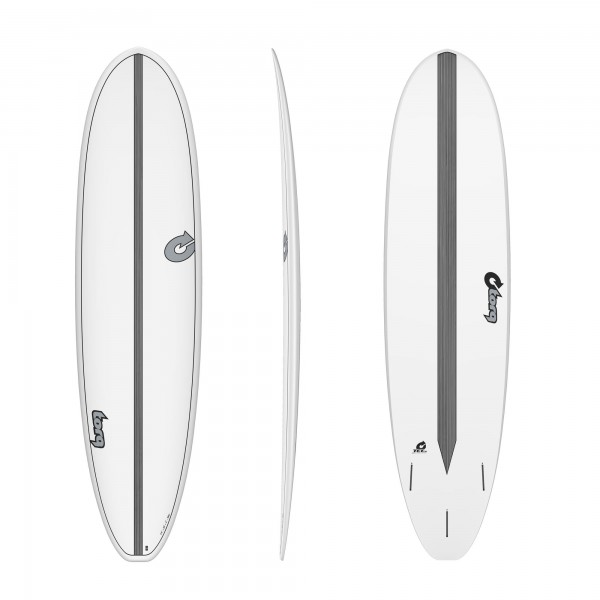 Surfboard TORQ Epoxy TET 7.4 VP Funboard Carbon