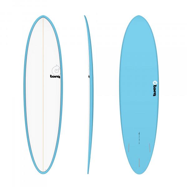 Surfboard TORQ Epoxy TET 7.2 Funboard Blue Pinline