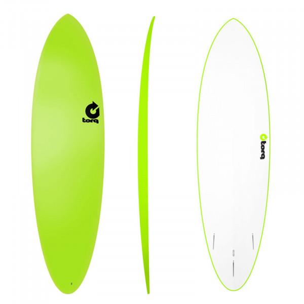 Surfboard TORQ Softboard 6.8 Funboard Grün
