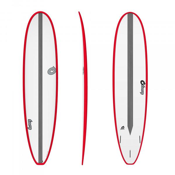Surfboard TORQ Epoxy TET CS 8.0 Long Carbon Red