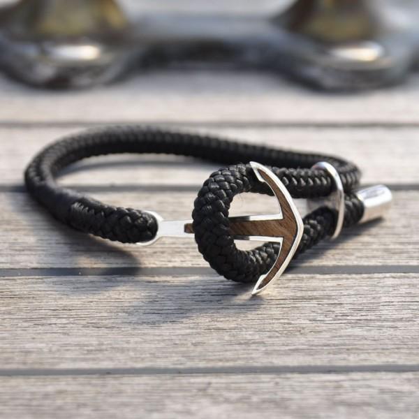 Silver+Surf Silber Schmuck Anker XL Wood Armband