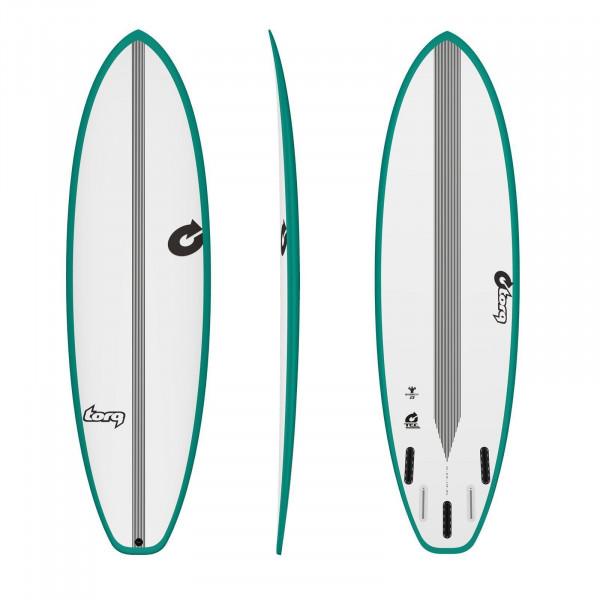 Surfboard TORQ Epoxy TEC BigBoy23 7.2 Rail Grün