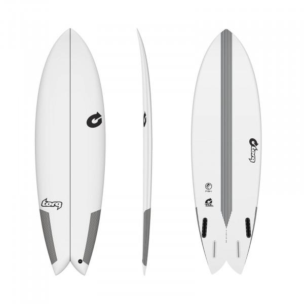 Surfboard TORQ Epoxy TEC Quad Twin Fish 7.2