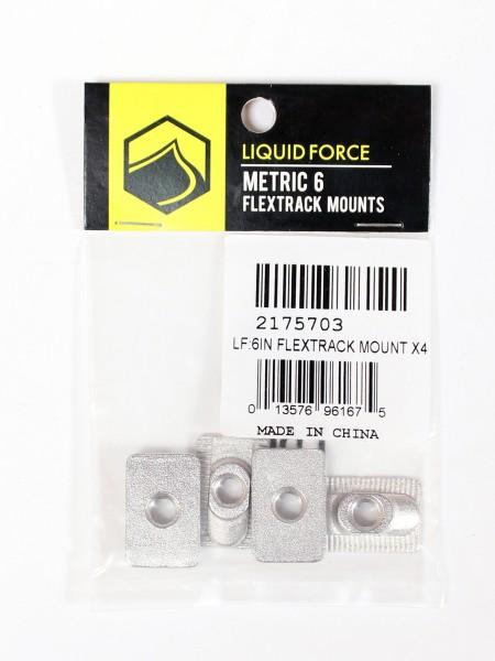 Liquid Force 6in Flextrack Mount X4