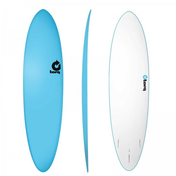 Surfboard TORQ Softboard 7.2 Funboard Blau