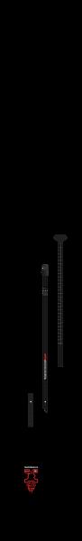 Starboard Lima Prepreg Carbon 29mm 3 Pcs Adj Carbon S35 SUP Paddel