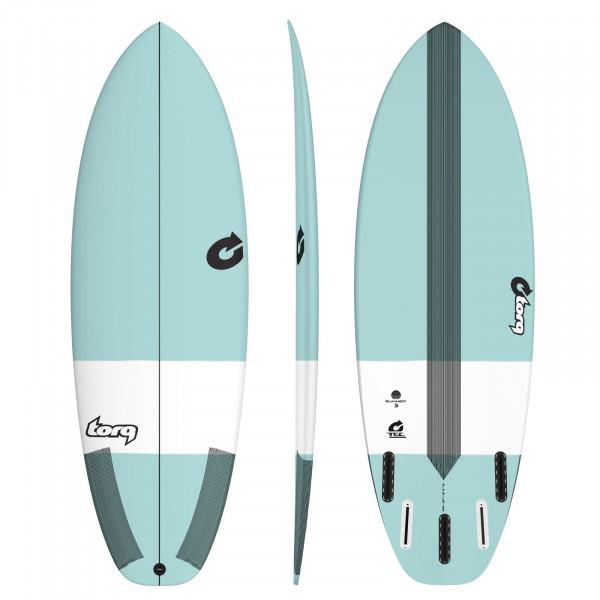 """TORQ 5'8"""" Epoxy TEC Summer 5 Surfboard seagreen"""