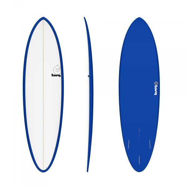 Surfboard TORQ Epoxy TET 6.8 Funboard Navy Pinline
