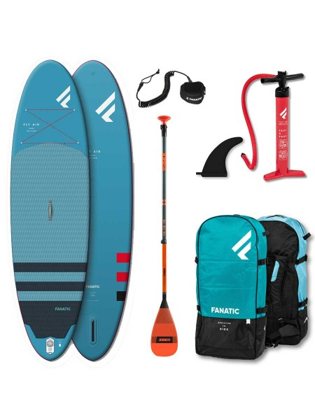 """Fanatic Fly Air 9'8"""" & Glasfaser Paddel SUP Set"""