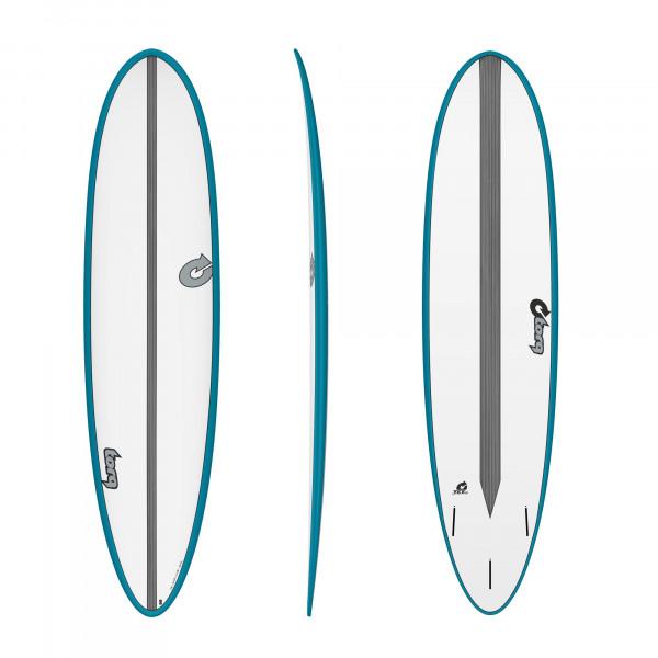 Surfboard TORQ Epoxy TET CS 7.6 Fun Carbon Teal
