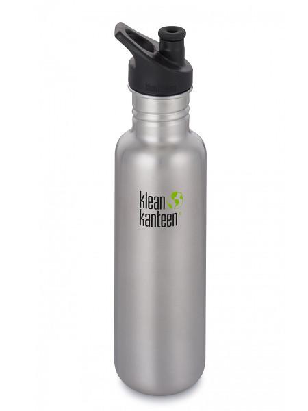 Klean Kanteen Classic 800 ml Trinkflasche Edelstahl / Sport Cap 3.0