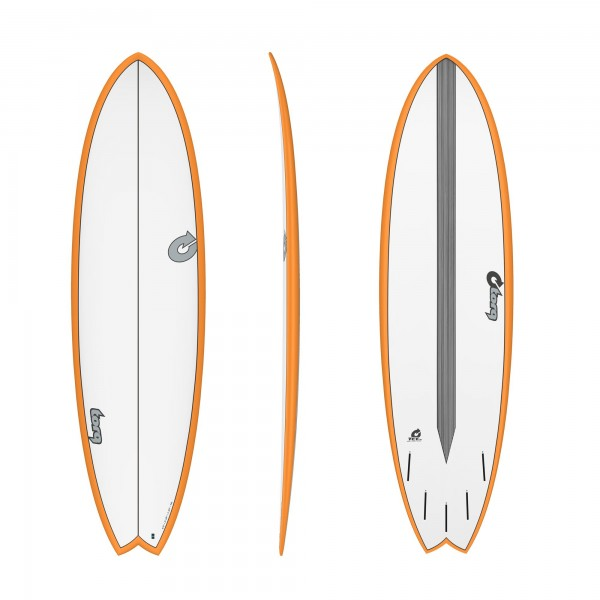 Surfboard TORQ Epoxy TET CS 6.10 Fish Carbon Orang