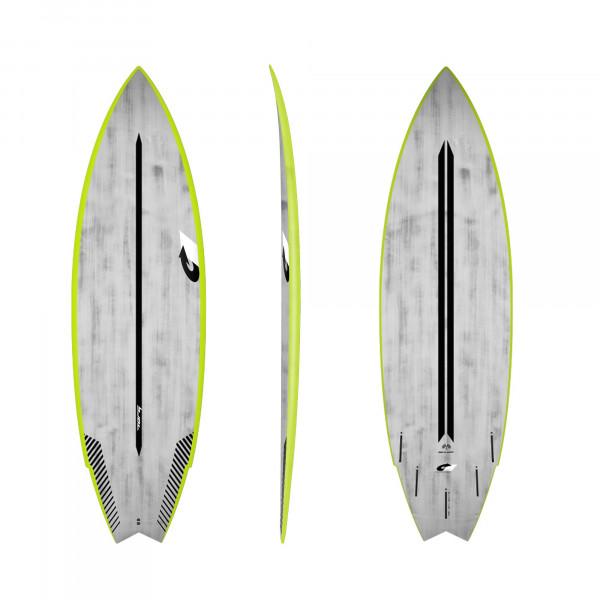 Surfboard TORQ ACT Prepreg Go-Kart 6.6 GreenRail