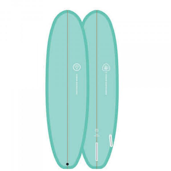 Surfboard VENON Evo 6.4 Hybrid Split pastel