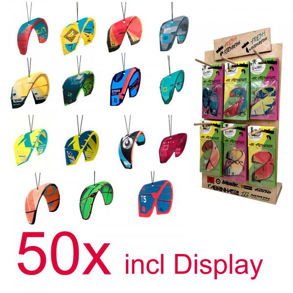 Lufterfrischer 50 Stück Kitesurf Kites mit Display